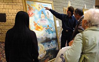 渥太华展出法轮功学员张昆仑亲身经历绘画