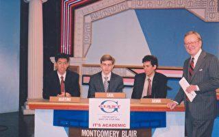Martino Choi(圖最左)獲選為全馬州大學預修課程榮譽生。(圖片提供﹕布萊爾高中)