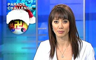 新西兰国家电视台报导法轮功参加首都圣诞游行