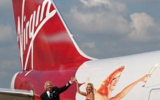 維珍航空舉辦25周年慶典 英首相祝賀