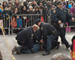 法拉盛中國新年遊行 騷擾法輪功暴徒被捕