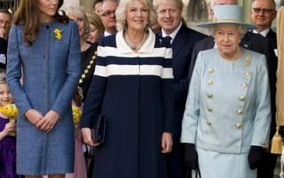 組圖:英皇室3代同行逛街 凱特笑見狗食禮