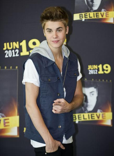 小天王賈斯汀•比伯(Justin Bieber)出席記者招待會。(Ronaldo Schemidt/AFP/GettyImages)