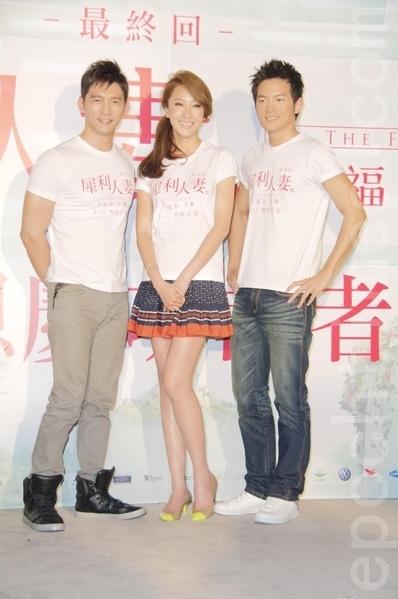 (左起)宥勝、隋棠、溫昇豪。(攝影:黃宗茂/大紀元)