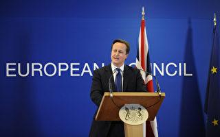 英國多家報紙 24日表示,首相卡梅倫在歐盟峰會上站穩英國立場,不過也警告他的好運可能不會持續太久。圖為 11 月 23 日,卡梅倫在歐盟峰會上發言。(JOHN THYS / AFP)