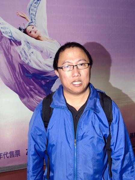 香港南方民主同盟主席龍緯汶。(攝影:唐賓/大紀元)
