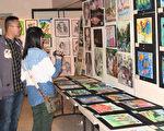 """第29届国际艺术作品联展及""""金星少儿画家""""作品展于6月1日到4日在旧金山国父纪念馆举行。(摄影:曹景哲/大纪元)"""