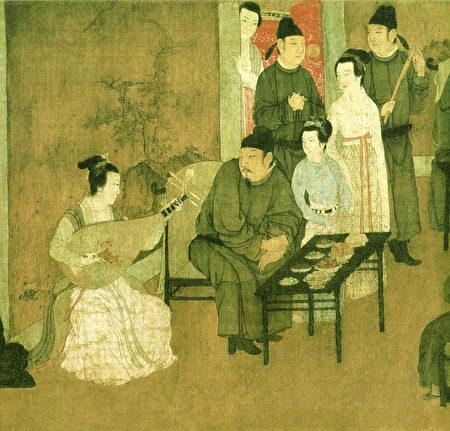 五代十國南唐 顧閎中〈韓熙載夜宴圖〉局部。(公有領域)