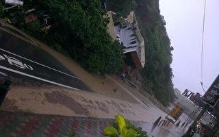 基隆山坡住宅倒塌  2人逃生