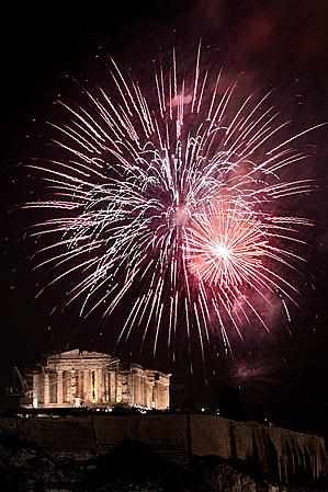 新年烟火(AFP)