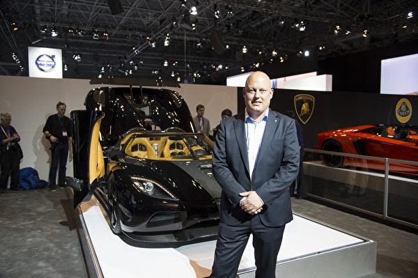 科尼赛克汽车公司首席执行官兼创始人冯·科尼赛克先生。(戴兵/大纪元)
