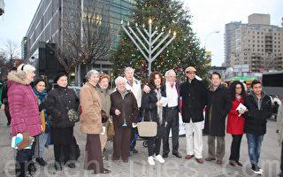 法拉盛圖書館點燈慶猶太光明節