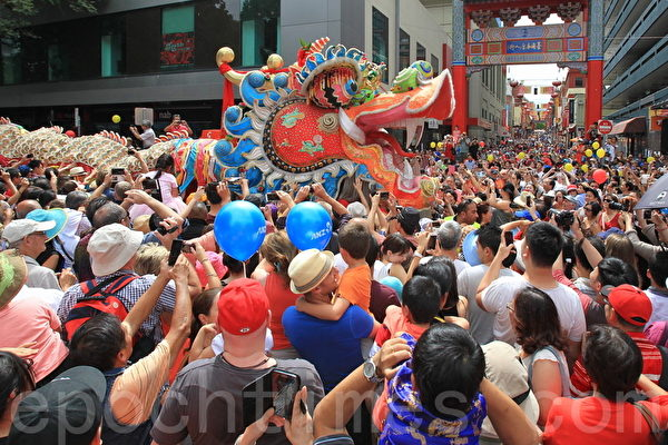 2015年2月22日,墨尔本唐人街庆祝中国新年活动。(陈明/大纪元)