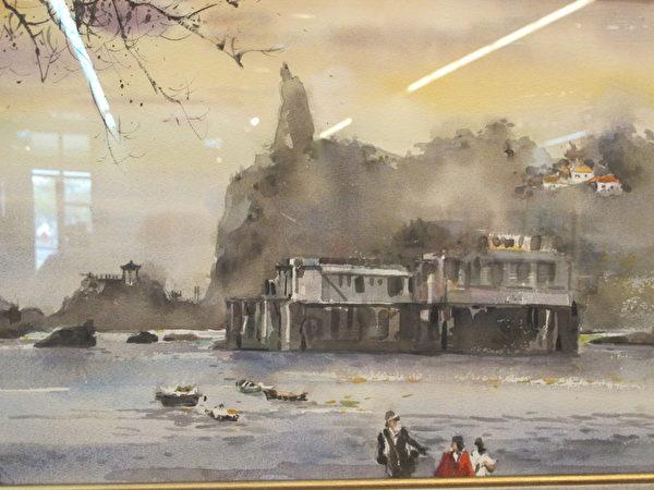 陳陽春的作品「鼓浪嶼看海」。(廖素貞/大紀元)
