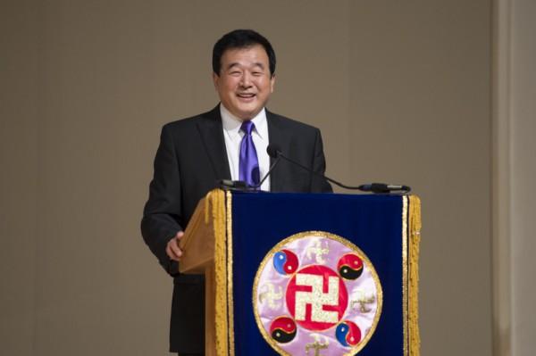 2012年7月,华盛顿DC法轮大法修炼心得交流会,李洪志先生莅临会场。(戴兵/大纪元)