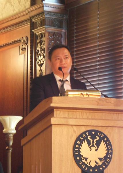 知名民运人士、台湾国立清华大学助理教授王丹。(李辰/大纪元)