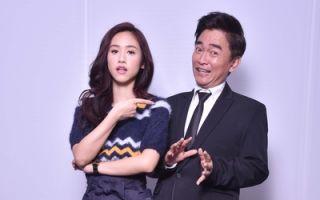 吴宗宪(左)与女儿Sandy合影资料照。(中天提供)