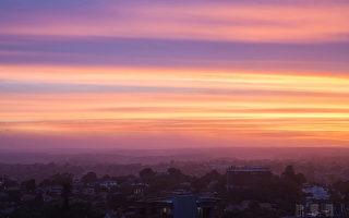 組圖:看澳洲 紫色夕陽