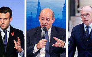 民意支持最高的三位部長分別是經濟部長馬克隆(左圖)(支持率54%)、國防部長勒德裡安(中圖)及內政部長卡澤納夫(右圖)(支持率均為52%)。(大紀元合成/Getty Images)