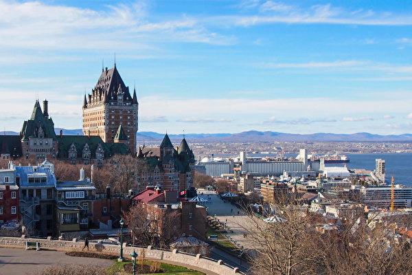 魁北克市地标建筑Chateau Frontenac(颜永明/大纪元)