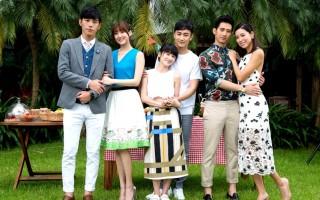 华剧《我的极品男友》举行记者会,林逸欣(左起)与黄腾浩、连俞涵与林佑威、简宏霖与林可彤三对主演均出席活动。(三立提供)