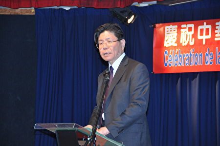 张铭忠大使主持庆祝蔡总统就职酒会。(台湾代表处提供)