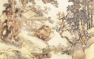 清 王翬〈夏五吟梅圖〉。(公有領域)