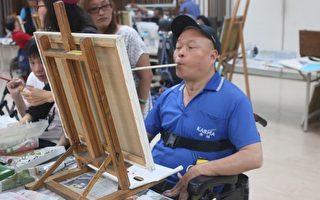 遊覽車司機癱瘓 口足繪畫重啟新人生