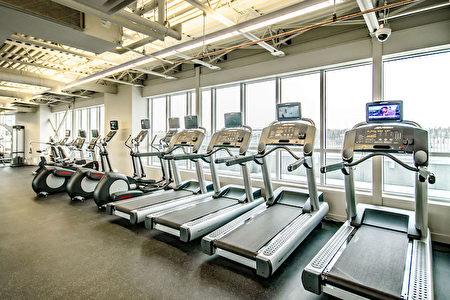 可观赏美景的顶楼室内健身房(Statesman提供)。