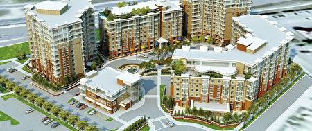 交通便捷,景观优美,设施齐全的繁华中心高档公寓The Groves of Varsity(Statesman提供)。