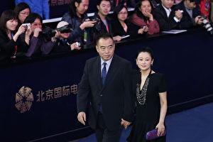 陈凯歌陈红夫妇资料照。(Lintao Zhang/Getty Images)