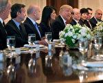 4月24日,川普和安理会15个成员国大使讨论朝鲜局势。( Chip Somodevilla/Getty Images)