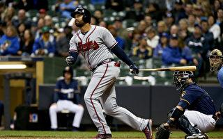 MLB勇士坎普首度单场3响 生涯250轰差4支
