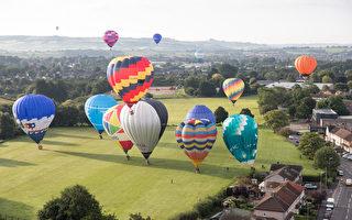 组图:欧洲最大热气球嘉年华缤纷登场