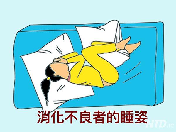 消化不良的睡姿。(ntd.tv)