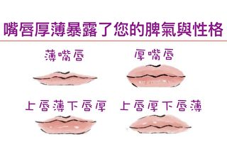 嘴唇厚薄暴露命運 四種唇形決定享清福 還是勞碌命