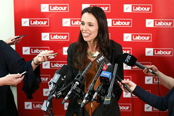 新西蘭工黨領袖雅頓(Jacinda Ardern)成為新西蘭自1856年以來的第三位女總理,也是最年輕的總理。(Hagen Hopkins/Getty Images)