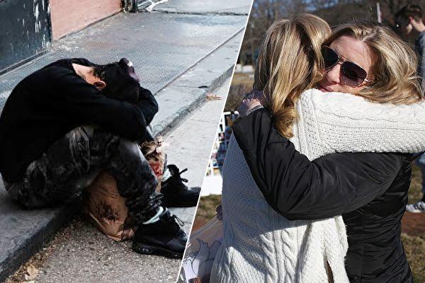 女儿失踪多年,这天在电视节目中出现,爸妈于是采取行动挽救女儿。示意图。(Spencer Platt, John Moore/Getty Images/大纪元合成)
