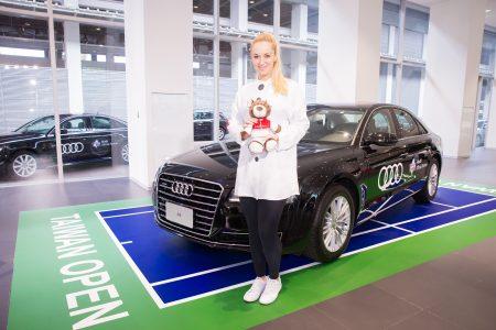 德国女网选手Sabine Lisicki 1月26日在台北出席2018WTA台湾公开赛选手见面会。