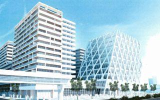 列治文加拿大线Brighouse站附近将开发四个主要的物业群,包括9栋大楼,提供1,132个公寓单位。(GBL Architects推特)