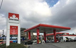 10月12日,大温油价再创新高,达到了$1.619/升。(童宇/大纪元)