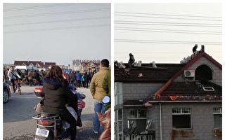上海公民坚守家园抗强拆 被困屋顶三天