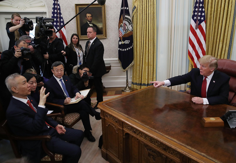 組圖:特朗普接見劉鶴 一窺中美談判內情