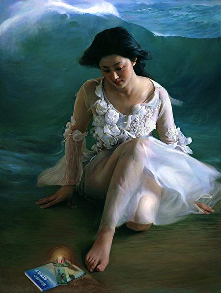 董錫強,《我是誰》,2011年第三屆大賽銀獎作品。(新唐人全世界寫實人物油畫大賽組委會提供)