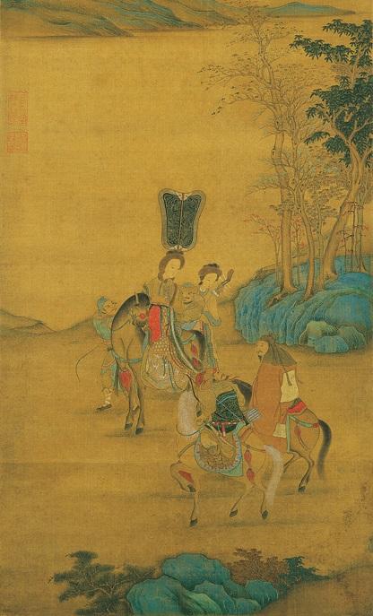 元人《明妃出塞图》,台北故宫博物院藏。(公有領域)
