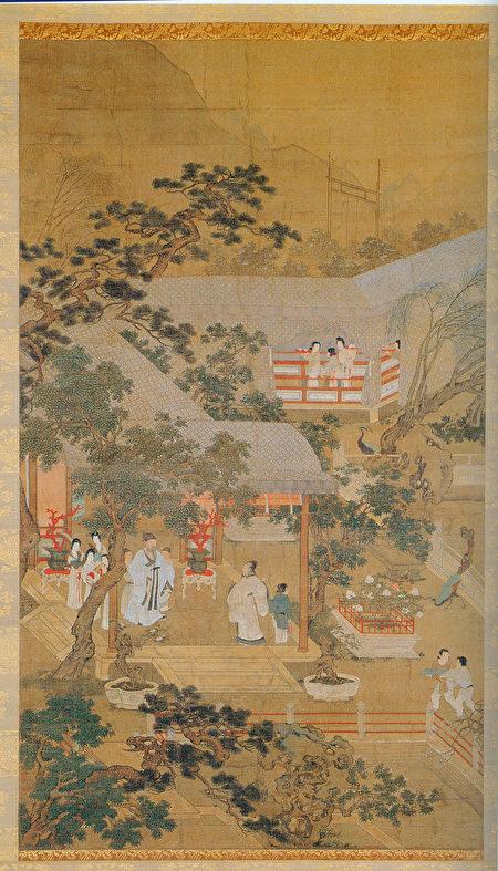 明仇英《金谷園圖》描繪西晉石崇之奢靡無度。(公有領域)