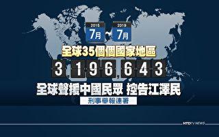 法辦元凶 全球320萬人舉報江澤民反人類罪