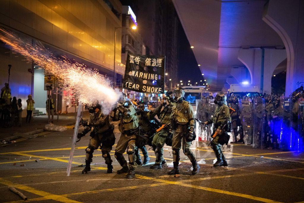 美國會議員呼籲對香港停售催淚彈