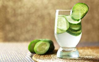 黃瓜水能補水、護膚、促減肥,有諸多功效。(Shutterstock)
