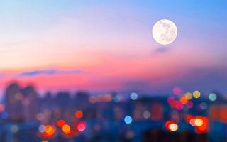 今年让我们一起  发呆看月亮吧!